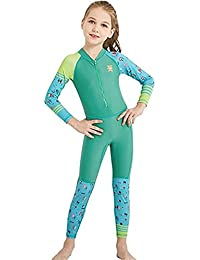 569744ccb2 Little Kids Girls Boys One Piece Water Sports Sun Protection Rash Guard UPF  50+ Long