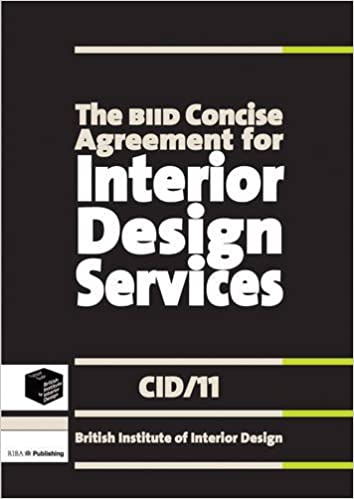 The BIID Concise Agreement for Interior Design Services CID11