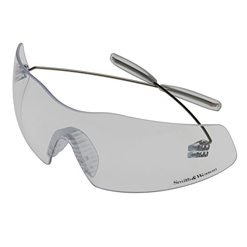 (Smith & Wesson Phantom Safety Glasses (19839), Pewter Frame, Clear Lens, 12 Pairs/Case)