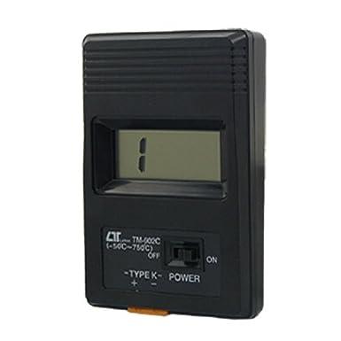 Shell plástico eDealMax termopar tipo K Sonda de alambre Negro LCD Termómetro Digital: Amazon.com: Industrial & Scientific