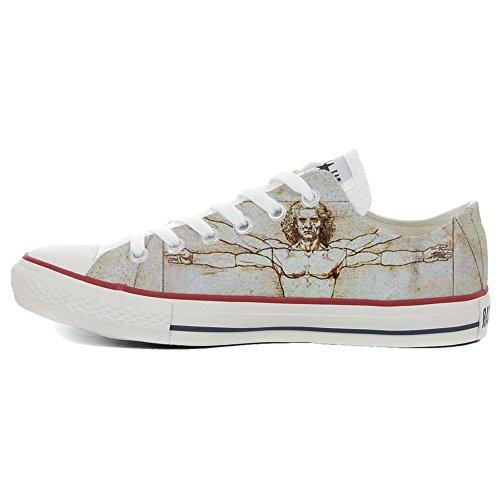 All artisanal produit Vitruviano Converse Star Sneaker Unisex coutume Personnalisé chaussures Italien Low Imprimés et FA6qd