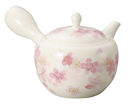Yamakiikai Tokoname Japanese Teapot White Sakura Light 260cc ()
