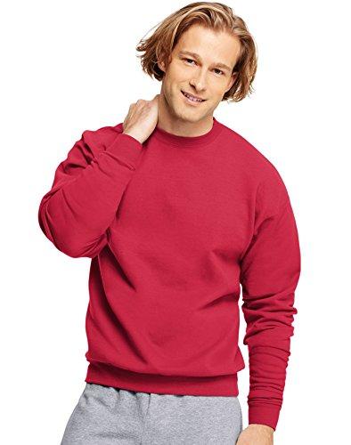 (Hanes Mens Long Sleeve Crewneck Sweatshirt - DEEP RED - XXX-Large)