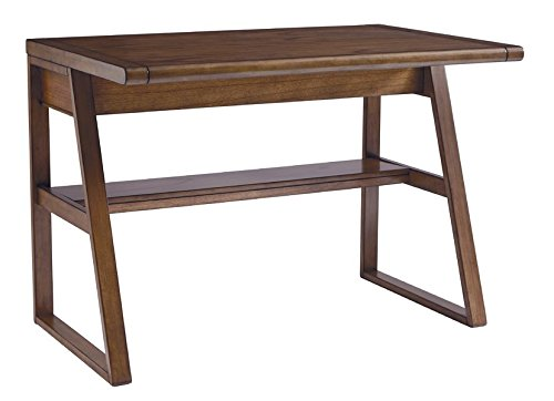 Writing Desk Power Cord Included Made of Veneers Wood and Manmade Wood Hand Finished 1 Fixed Shelf Oil-rubbed Bronze-tone Hardware by eCom Fortune (Image #4)
