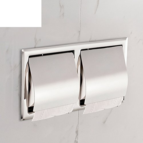Stainless steel concealed Towel rack/ in-wall/ embedded toilet paper holder/ Hotel toilet roll holder-B