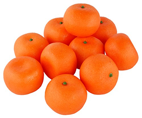 SAMYO 10Pcs Artificial Tangerine Lifelike Simulation Orange Set Fake Fruit for Home House Kitchen Party Decoration