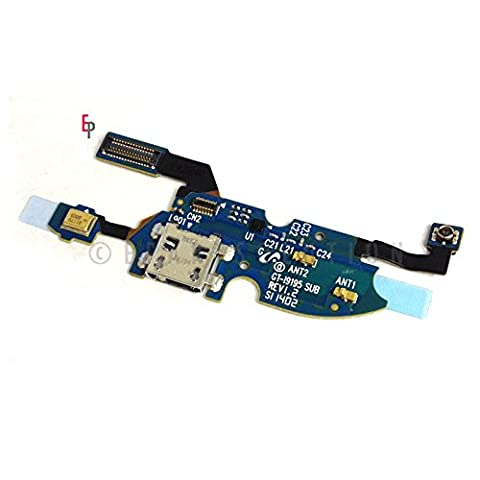 ePartSolution-Samsung Galaxy S4 Mini i9190 i9195 i9192 Charger Charging Port Dock Connector USB & Microphone Mic Flex Cable Replacement Part USA (Samsung S4 Mini Charger Dock)