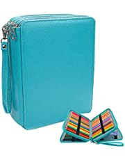 GXL Coloured Pencil Case, 120 Slots Coloured Pencil Case PU Leather Organizer 3 Multi-Layer Large Capacity Pencil Bag Stationery Organizer (Pencils Not Included)