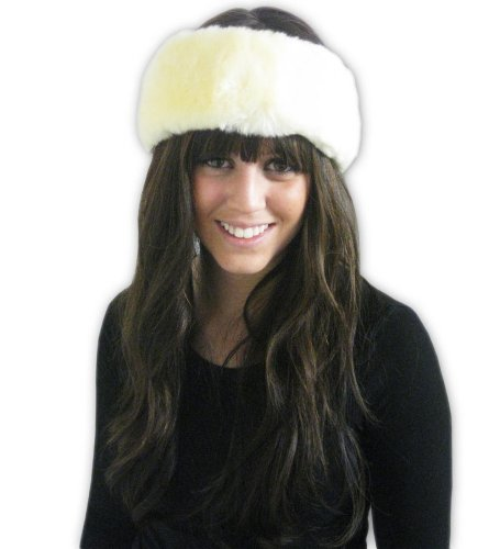 Winter Faux Fur Headband - Fur Neck Wrap - Fur Ear Warmer - by CoverYourHair