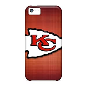 Anti-Scratch Hard Phone Covers For Iphone 5c (Aru10541MEsn) Allow Personal Design Lifelike Kansas City Chiefs Image