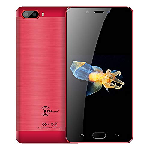 "Smartphone Unlocked Red (Unlocked Smartphone, Ken Xin Da S9 5000mAh Battery 5.5"" 16GB 13MP Camera 4G LTE Interioanl Cell Phone(AT&T/T-Mobile/Verizon) (Red))"