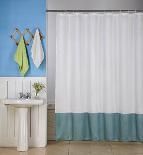 GorgeousHome (H10) 1 New Fabric Bathroom Bath Shower Curtain 2 Shade Mix Color 72