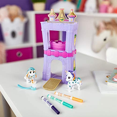 Crayola Scribble Scrubbie Peculiar Pets, Palace Playset with Unicorn and Yeti, Gift, Ages 3, 4, 5, 6