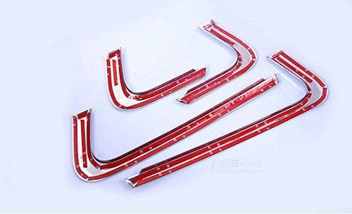Car interior abs chrome accessories side door molding cover trim amazon co uk car motorbike