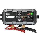 NOCO Boost Sport GB20 arrancador de Litio ultraseguro y portátil de 500 amperios y 12 voltios para baterías de automóviles con Motores de Gasolina de hasta 4 litros, 400 Amps, Negro/Gris