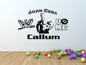 Personalised WWE JOHN CENA Vinyl Wall Art Sticker **ANY NAME**   ( Part 47