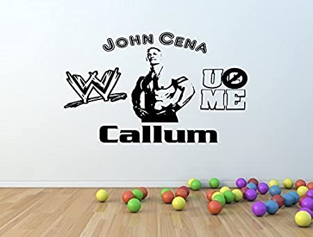 Personalised wwe john cena vinyl wall art sticker any name