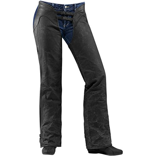 Icon One Thousand Hella Womens Chaps, Gender: Womens, Primary Color: Black, Size: Sm, Distinct Name: Black XF-2-2823-0104