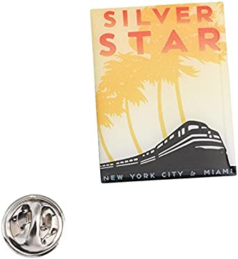 Amtrak Collector Edition Silver Star Lapel Pin New in Package New York to Miami