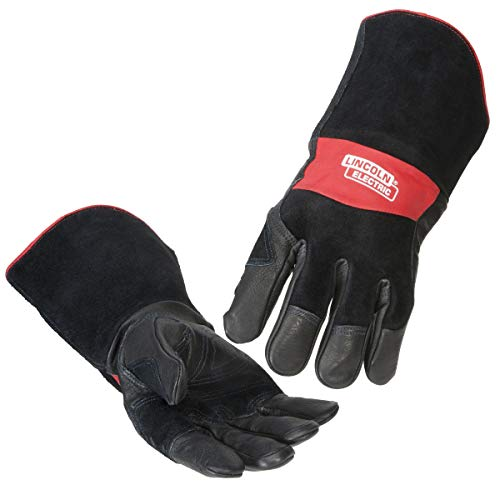 Lincoln Electric Premium Leather MIG Stick Welding Gloves | Heat Resistance & Dexterity| Medium | K2980-M