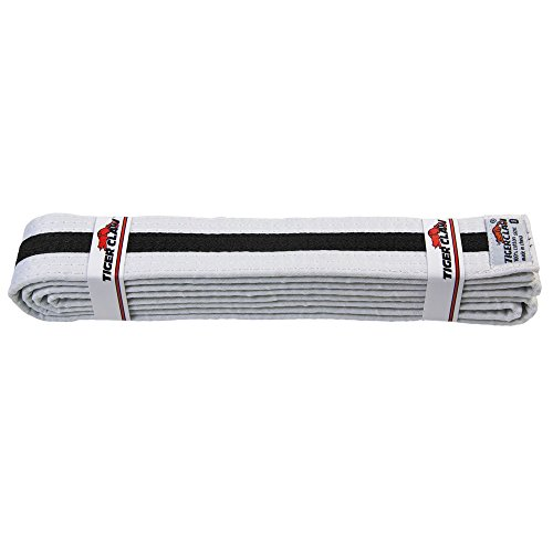 Striped Rank Belts (Uniform Belt - White With Black Stripe #2)