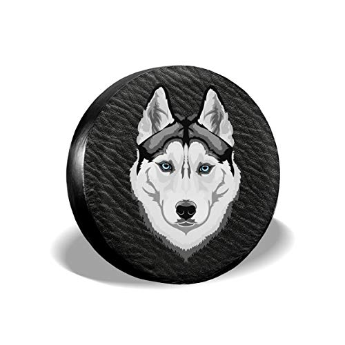 (Uktly Waterproof Spare Tire Cover Dog Universal Sun Protector Dust - Proof Wheel Covers for Jeep, Trailer, RV, SUV, Truck and Other Vehicle, Fits 24