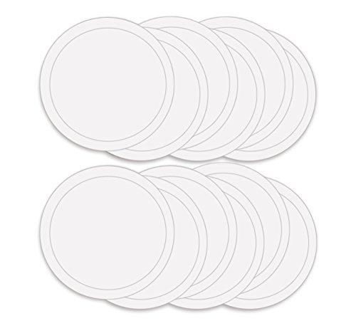 - ABN Paint Mixing Cup Lids, 12 Pack – Clear Plastic 32oz Ounce (1qt Quart) Lids