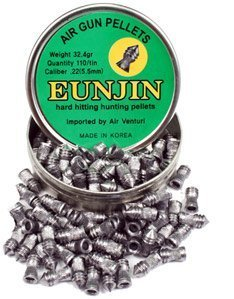 Eun Jin .22 Cal, 32.4 Grains, Pointed, 110ct (Pellets 22 Pointed)