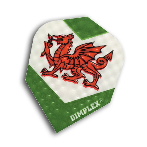 F6032 Welsh Dragon Dimplex Dart Flights 4 sets per pack (12 flights in total) by Red Dragon Darts Review