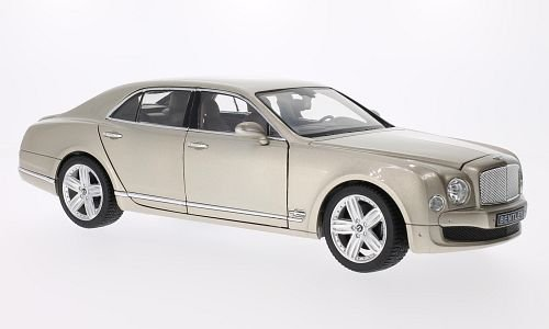 Bentley Mulsanne, met.-beige, LHD , modello di automobile, modello prefabbricato, Rastar 1 18 Modello esclusivamente Da Collezione