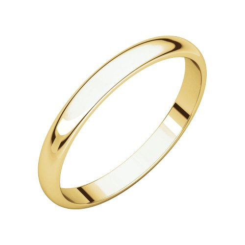 PORI JEWELERS 14K Solid Gold Wedding Band Ring - 2.3mm, 2.5mm, 3mm, 4mm, 5mm - Multiple Colors and Ring (2.3mm, Yellow, 7)