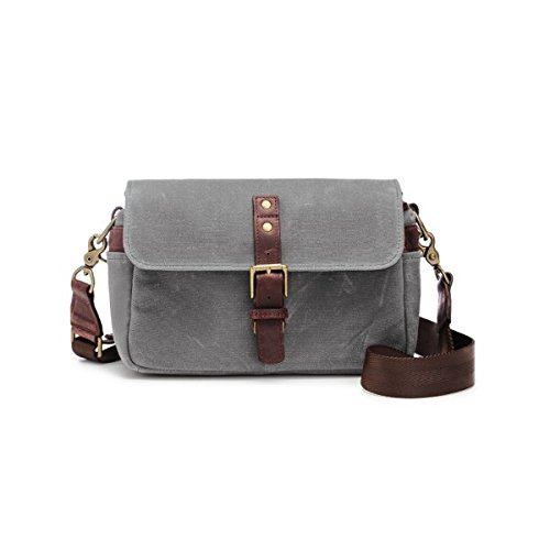ONA – The Bowery – Camera Messenger Bag – Smoke Waxed Canvas (ONA5-014GR)