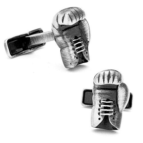 Glove Cufflinks - Pewter Boxing Glove Cufflinks Novelty 1 x 1in