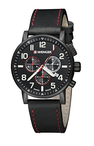 Wenger Gents Attitude Chrono PVD Chronograph Watch 010343104 ()