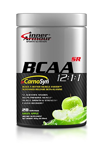 Inner Armour BCAA with SR CarnoSyn®, Green Apple | Sustained Release Beta-Alanine, Improved Muscle Retention of Carnosine | 28 Servings