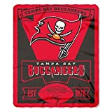 NFL Tampa Bay Buccaneers Marque Printed Fleece Throw, 50-inch-inch by 60-inch