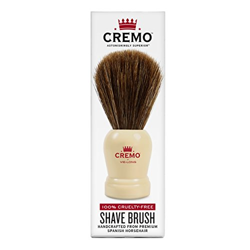 Cremo 100% Cruelty-Free Shave Brush Handcrafted From Premium Spanish Horsehair