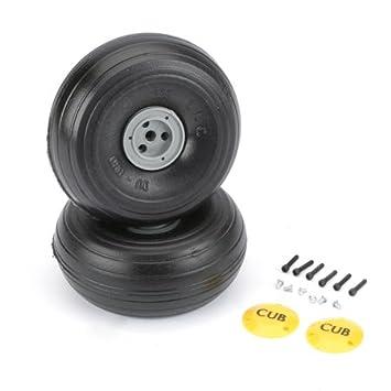 2 DU-BRO 338TLC 1//5 light weight J-3 Cub Wheels