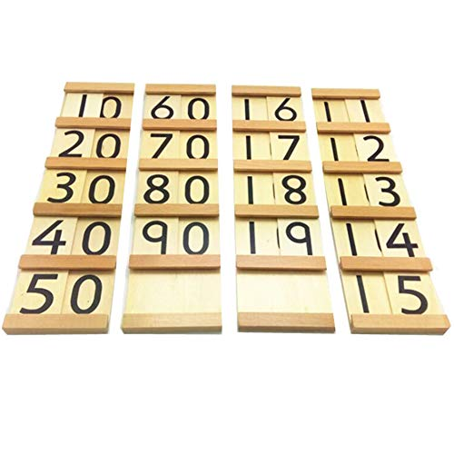 Beadboard Toy Boxes - xxiaoTHAWxe Wooden Montessori Math Bead Board Number Cognition Toy Kids Baby Early Learning