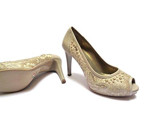 Zapatos Beige Arena Vestir 38 Para Giardini Nero De Piel Mujer O0w6Z5qx