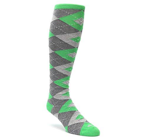 (Statement Sockwear Men's Over-the-calf Dress Socks (Kelly Green Gray Argyle) )