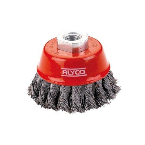 Alyco 197620 –  Brosse Tasse torsadé e 75 mm pour meuleuse