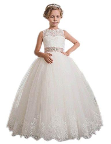 Helen 2017 Princess Lace Flower Girls Dresses Ball Gowns First Communion Dress 101 (First Communion Dresses 2017)