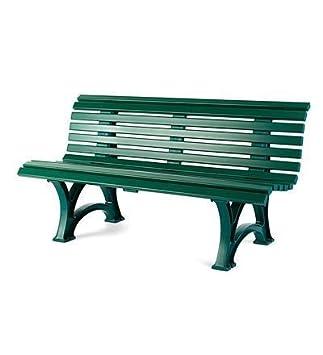 germanmade resin garden bench in green