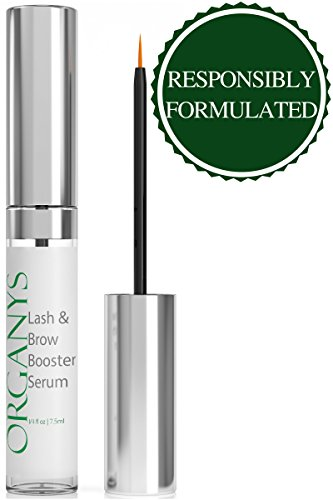 Lash Thickener - Organys Lash & Brow Booster Serum Gives You Longer Fuller Thicker Looking Eyelashes & Eyebrows 100% Yours. Best Seller Conditioner Enhances The Appearance Of Natural Lush Eyelash Growth & Regrowth