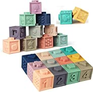 Soft Stacking Blocks for Baby Montessori Sensory Infant Bath Toys for Toddlee Toddlers Babies 6 9 Month 1 2 Ye