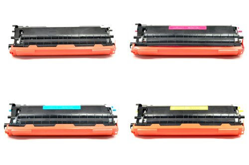 ECOMAX 4 Color Combo Pack TN115BK, TN115C, TN115M and TN115Y Compatible Toner Cartridges, Replacement Use For DCP-9040CN, 9045CDN, HL-4040CDN, 4040CN, 4070CDW, MFC-9440CN, 9450CDN, 9840CDW ()