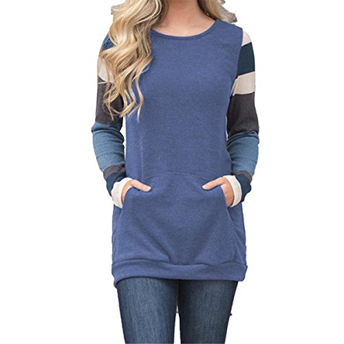 Kool Classic Womens Casual Cotton Knitted Long Sleeve Lightweight Tunic Tops