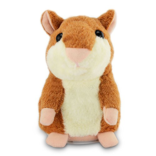 Color You Talking Hamster Repeats What You Say Electronic Pet Talking Plush (Electronic Language)