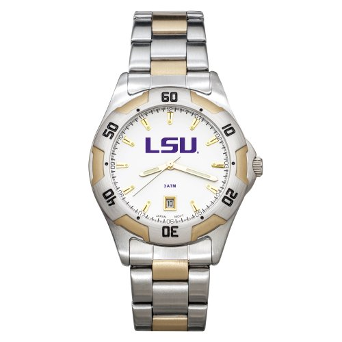 Sport Tigers Watch Steel State (NCAA LSU Tigers Men's All-Pro Two-Tone Watch)